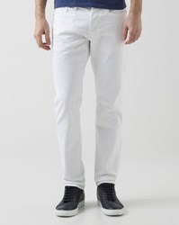 G Star White Slim Cut Tapered 3301 Jeans