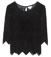 Velvet Binx Embroidered Top Black