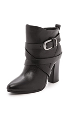 Belle By Sigerson Morrison Floria Round Toe Booties Black