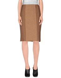 Siyu Skirts Knee Length Skirts Women Brown
