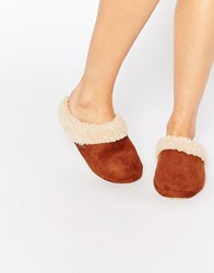 Totes Suedette Mule Slippers Tan
