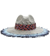 Etro Feather Trimmed Hat Multicoloured