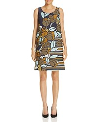 Lafayette 148 New York Palmer Shift Dress Ink Multi