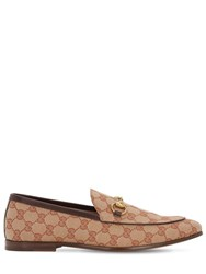 Gucci 10Mm Canvas Gg All Over Loafers Beige