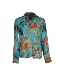 Glanshirt Shirts Shirts Men Turquoise
