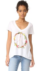 Chaser Peace Wreath Tee White