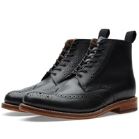 Grenson Alfred Brogue Boot Black