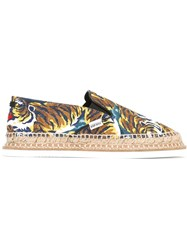 Kenzo 'Flying Tiger' Espadrilles Black