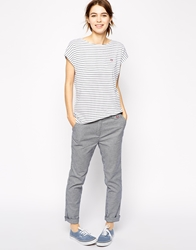 Fred Perry Dogtooth Chinos Frenchnavy