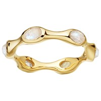 Missoma 18Ct Gold Vermeil Magma Rainbow Moonstone Ring Gold