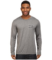 O'neill Mainsail Long Sleeve Performance Screen Tee Imprint Charcoal Men's T Shirt Gray