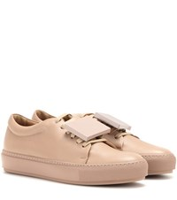 Acne Studios Adriana Turnup Leather Sneakers Neutrals
