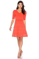 M Missoni 3 4 Sleeve Fit And Flare Dress Coral