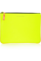 Comme Des Gara Ons Two Tone Neon Leather Pouch