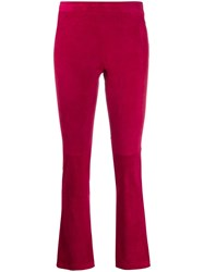Stouls Classic Leather Trousers Pink