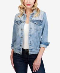 Lucky Brand Cotton Denim Trucker Jacket Glen Rose