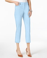 Alfani Cropped Skinny Pants Only At Macy's Free Blue