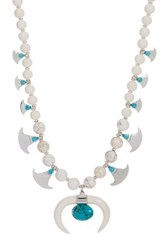 Chan Luu Bone Turquoise And Howlite Bead Necklace White