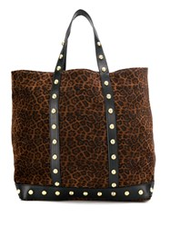 Vanessa Bruno Stud Detail Tote Brown