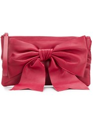 Red Valentino V Bow Front Clutch Red