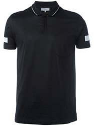 Lanvin Sleeve Stripe Polo Shirt Black