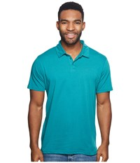 Rvca Sure Thing Ii Polo Light Teal Clothing Blue