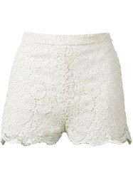 Red Valentino Lace Shorts Nude And Neutrals