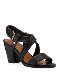 Frye Dani Grained Leather Sandals Black