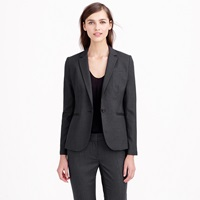 J.Crew Tall 1035 Single Button Jacket In Pinstripe Super 120S Wool