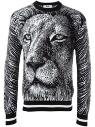 Msgm Lion Sweatshirt Black