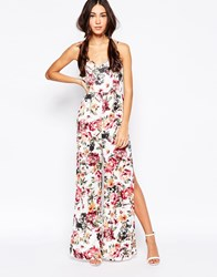 Daisy Street Jumpsuit In Floral Print Multi