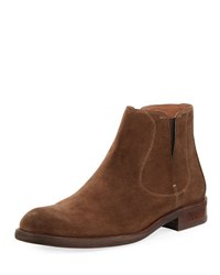 John Varvatos Waverly Suede Chelsea Boot Brown