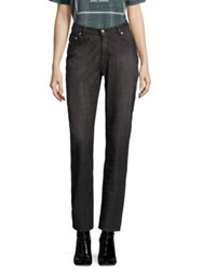 Opening Ceremony High Rise Cotton Straight Jeans Black