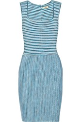 Issa Stretch Knit Dress Light Blue