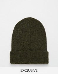 Reclaimed Vintage Oversized Beanie Green