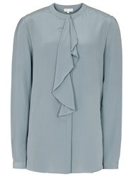 Reiss Silk Raine Waterfall Top Baltic Blue