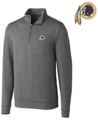 Cutter And Buck Men's Washington Redskins Shoreline Quarter Zip Pullover Charcoal