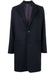 A.P.C. Loose Fitted Coat Blue