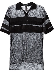 Givenchy Floral Lace Polo Shirt