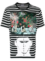 J.W.Anderson Jw Anderson Gilbert And George Police Heavy Print T Shirt Black