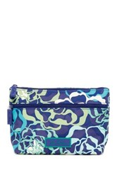 Vera Bradley Lighten Up Travel Cosmetic Bag Blue