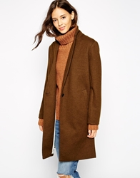 Pull And Bear Pullandbear Car Coat Khaki