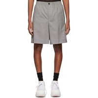 Alexander Wang Black And White Wool Houndstooth Shorts