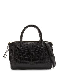 Nancy Gonzalez Mini Christina Crocodile Tote Bag Black