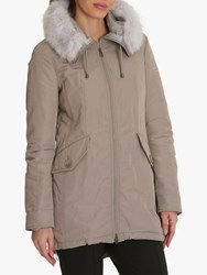 Betty Barclay Crossover Down Parka Smoky Dust