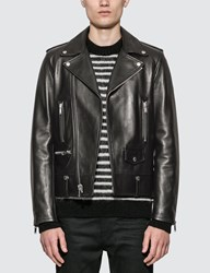Saint Laurent Motorcycle Leather Jacket Black
