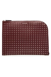 Alexander Mcqueen Studded Leather Pouch Red