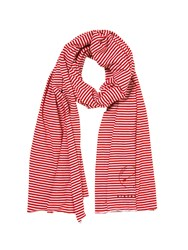 Stefanel Narrow Striped Scarf Red