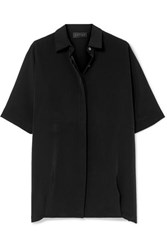 Hatch The Button Down Crepe De Chine Shirt Black