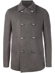 Eleventy Double Breasted Coat Brown